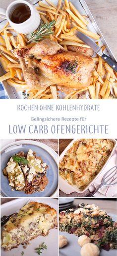Low Carb Rezepte für den Backofen sind beliebt, schließlich übernimmt der Backofen die Hauptarbeit. Die meisten Ofengerichte lassen sich gut vorbereiten und anschließend nur noch in den Backofen schieben. Für Gäste oft genauso geeignet wie für dein Meal Prep der Woche - vieles eignet sich für die Lunchbox. Kohlenhydratarm essen ist ganz einfach mit den passenden Low Carb Rezepten. Die findest du auf www.volle-kanne-gesund.de #lchf #lowcarbrezepte #lowcarbmahlzeiten #wenigkohlenhydrate