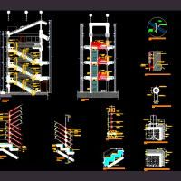 Best Detail Of Stairs Dwg Autocad Drawing 2D Stairways 400 x 300