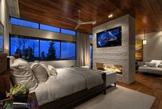 This is also a wonderful option for a large bedroom that could use a wall divider