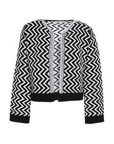 Boiled wool No appliqués Geometric design No pockets Heavy-weight sweater Long sleeves Round collar Stretch Maje Clothing, Knit Jacket, Black Cardigan, World Of Fashion, Luxury Fashion, Men Sweater, Knitting, Long Sleeve, Sleeves