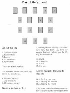 Image result for past life tarot spreads