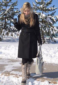 Snow stormy day ***  , Zara in Coats, Zara in Pants, Sorel in Boots, Nine West in Bags, H in Scarves / Echarpes, H in Gloves