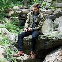 Mens Outdoor Fashion, Mens Outdoor Clothing, Outdoor Men, Outdoor Travel, Camping Outfits, Cowboy Outfits, Casual Outfits, Converse Outfits, Men's Outfits