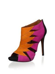 So colorful! Schutz Fulvia Ankle Boot $106 #orange #purple #shoes #boots @Michelle Flynn Pasternak