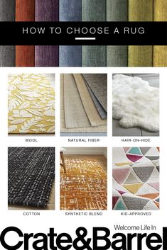 Wool or synthetic? Pattern or solid? And is bigger always better? From kid-friendly living rooms to breezy four-season rooms, learn the ins and outs of choosing just the right rug for your space. Fancy Living Rooms, Cute Living Room, Living Room Area Rugs, Room Rugs, Kid Friendly Rugs, Four Seasons Room, Nyc, Shabby Chic Kitchen, Cool Bars