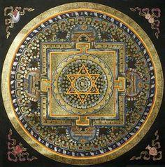 Cosmic Codes ~ The Spiritual constitution of every person on the path of Ascension really involves four major universal-archetypal principles; the first principles of UNIVERSAL CO-CREATION. Tibetan Mandala, Tibetan Art, Tibetan Buddhism, Buddhist Art, Sacred Geometry Art, Sacred Art, Geometry Tattoo, Tantra Art, Shri Yantra
