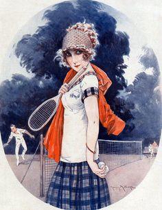 Milliere, Maurice (b,1871)- Tennis- 'La Vie Parisienne'