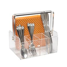 A storage classic, our 5-Section Acrylic Tote has been part of our product collection for many years!  It's well-constructed and beautifully designed to hold everything from makeup and toiletries to utensils and napkins.  The clarity of the material lets you see at a glance what you've stored.
