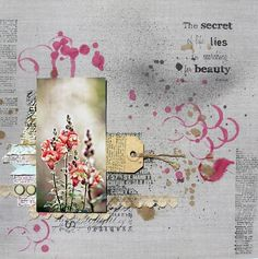 #papercraft #scrapbook #layout    KOLOROWY ptak