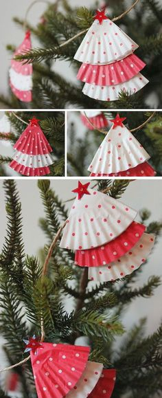 Cupcake Christmas Garland | Click for 25 DIY Christmas Crafts for Kids to Make…