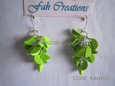 Handmade Jewelry - Paper Small Circle Punch Earrings (FAH203)