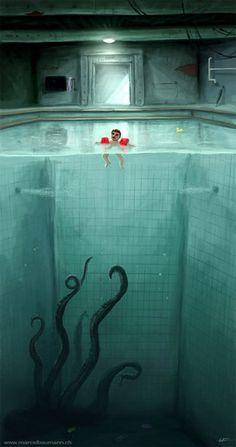 Pool Fun by Marcel Baumann