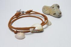 ♥ Muschelarmband ♥ mit drei echten Muscheln von Andressâ auf DaWanda.com