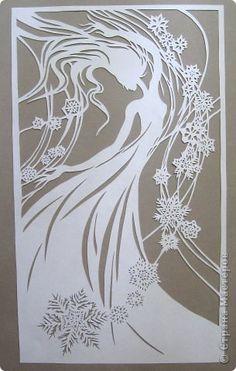 Картина панно рисунок Новый год Вырезание Танец Снежинок_Lois Cordelia Бумага фото 11