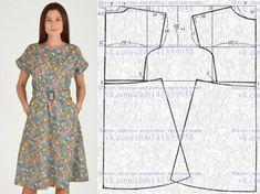 You can use the pattern as a vest or vest or as a dress. Japanese Sewing Patterns, Kwik Sew Patterns, Dress Sewing Patterns, Clothing Patterns, Embroidery Patterns, Hand Embroidery, Sewing Clothes, Diy Clothes, Barbie Clothes