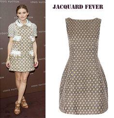 Jacquard - Celebrity favourite fabric of the moment. Check this ROSAvelt jacquard tulip dress at www.rosaveltonline.com