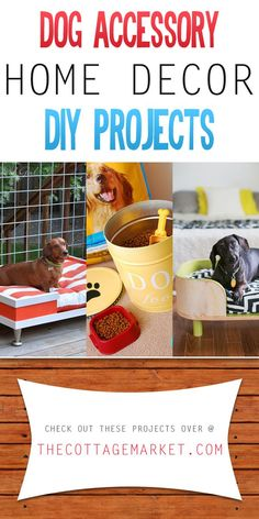 Dog Accessory Home Decor DIY Projects - The Cottage Market #DogAccessory, #DogAccessories, #HomeDecorDogAccessoryDIYProjects