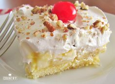 Twinkie Cake is a no-bake dessert that is a cross between a banana split and a shortcake. I always come home with an empty dish!