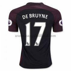 Fodboldtrøjer Premier League Manchester City 2016-17 De Bruyne 17 Udebanetrøje