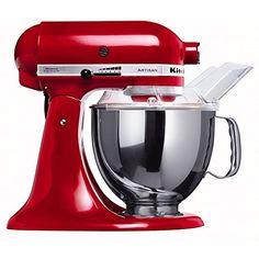 KitchenAid Küchenmaschine Artisan rot 5KSM150PSEER      Spannung 23 Volt     vollständig aus Metall     Direktantriebsmotor mit 10 Geschwindigkeiten     Planetenrührwerk     300 Watt - Küche Küchengeräte rot Küchenmaschine kaufen