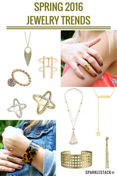 Check out what's new for Spring 2016 jewelry trends and make room in your jewelry box, and enter for the chance to win a $100 giveaway for free jewelry...