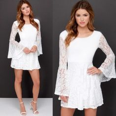vestidos com renda curtos na cor branca