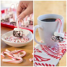 Get the recipe for these holi-delcious #CandyCane Marshmallow Pops! Ingredients at #BigLots.