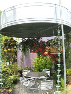 cattle trough patio canopy --  Art garden ‹ DIG Nursery