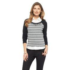 Embellished Crew Neck Pullover Sweater - Merona