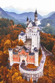 Neuschwanstein Castle Germany photo by check out his feed for more by awesomeglobe Beautiful Castles, Beautiful Buildings, Beautiful Landscapes, Beautiful Places, Places To Travel, Places To See, Germany Castles, Neuschwanstein Castle, Fantasy Landscape