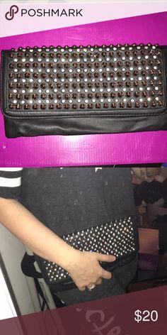 Black studded clutch Black studded clutch Bags Clutches & Wristlets