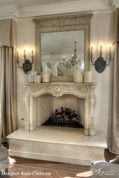 I'd love to put this fireplace in my bedroom.