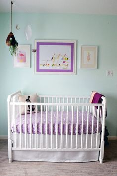 Mint, Gold and Purple Whimsical Nursery - Project Nursery