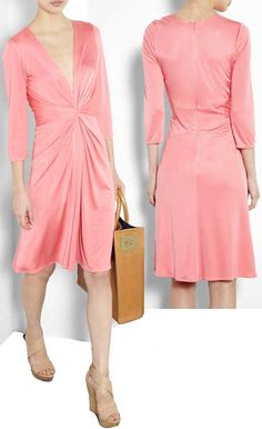 Issa Pink Silk Jersey Dress