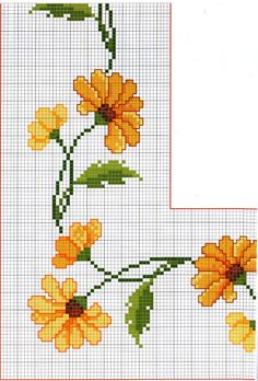 This Pin was discovered by Nel Cross Stitch Bird, Cross Stitch Borders, Cross Stitch Flowers, Counted Cross Stitch Patterns, Cross Stitch Designs, Cross Stitching, Cross Stitch Embroidery, Embroidery Patterns, Hand Embroidery