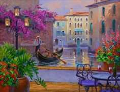Reflections of Romance Art Print by Mikki Senkarik. All prints are professionally printed, packaged, and shipped within 3 - 4 business days. Pintura Exterior, Romance Art, Beautiful Paintings, Oeuvre D'art, Impressionism, All Art, Fine Art America, Scenery, Fine Art Prints