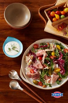 Create a rich and creamy version of your favorite salad dressing with FAGE Total Greek yogurt. Fage Greek Yogurt, Greek Yogurt Recipes, Thai Chicken Lettuce Wraps, Salad Dressing, Quick Easy Meals, Sour Cream, Brunch, Favorite Recipes, Dishes