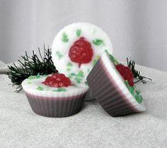 Cake soap Fake food soap favors Raspberry soap for kids
