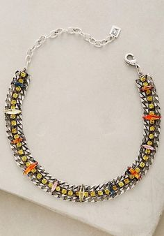 NWT $295 Anthropologie Diana Beaded Collar Choker Necklace by Dannijo  #Anthropologie #Choker