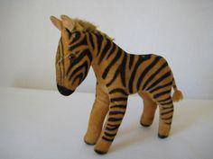 Steiff Vintage Velvet Zebra - - Born between 1951 and 1969 - Collector Favorite! Cute Piggies, Vintage Velvet, Wild Ones, Zebras, Etsy App, Black Glass, Pale Pink, I Shop, Black And White
