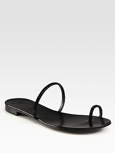 Giuseppe Zanotti - Crystal-Coated Leather Sandals #SaksLLTrip