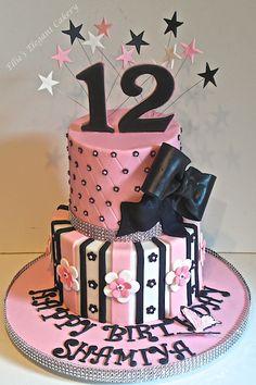 Teenage girl birthday cake