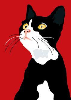 Wishful kitten by animalsincolor on Etsy