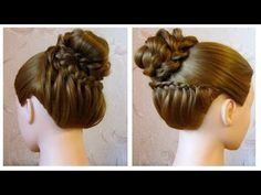 Chignon original facile ♡ Tuto coiffure cheveux mi long/long à faire soi même - YouTube