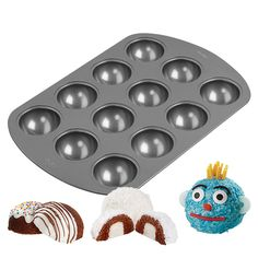 Wilton 12-Cavity Orb Cakes Mini Cake Pan 2105-0363 | Wilton