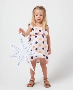 Little Girl's Nouveau Dot Dress - Bardot Junior