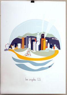 Albie Design's city prints  #illustration #poster