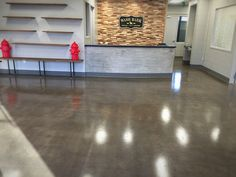 Wash Bark, a doggy daycare and boutique in Denver's historic Washington Park neighborhood, opened in 2016 with new concrete floors in their reception area and showroom sealed with a durable polyaspartic clear coat. #ConcreteVisions #Denver #WashBark #polyaspartic