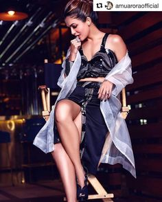 Spotted: opts for a glamorous embellished bustier and skirt accompanied by a sheer jacket by designers ✨ You can shop this look at Carma via link in bio Female Actresses, Hot Actresses, Beautiful Actresses, Indian Actresses, Photoshoot Images, Lakme Fashion Week, Latest Pics, Latest Images, Hd Images