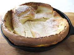 Magic in a cast iron skillet:  Dutch baby